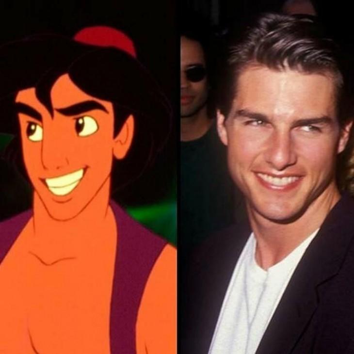 Comparación de Aladdín con Tom Cruise