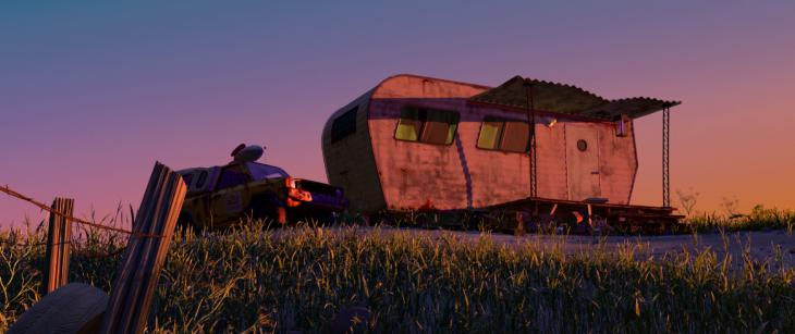Escena de la película Monsters Inc