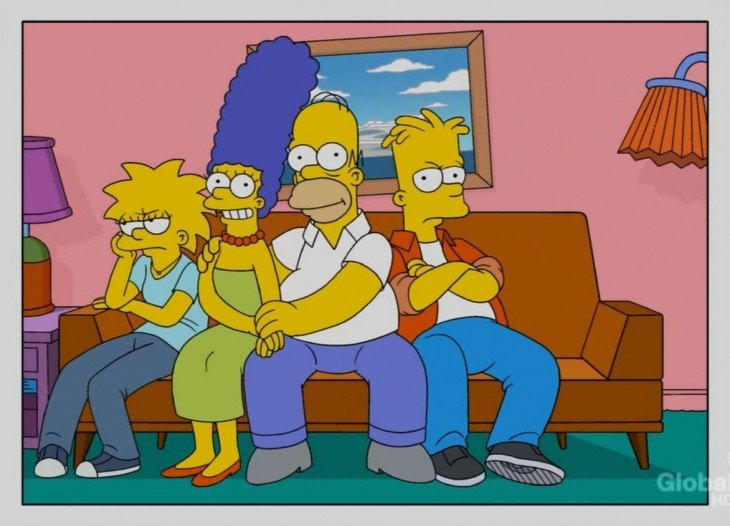 Simpson sofa, sin Lisa