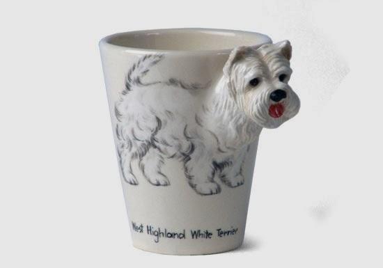 Taza de café en forma de perro