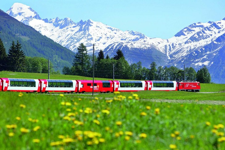 Crucero por el tren Glacier Express
