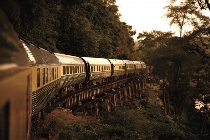 Fotografía que muestra una parte del tren Eastern & Orient Express