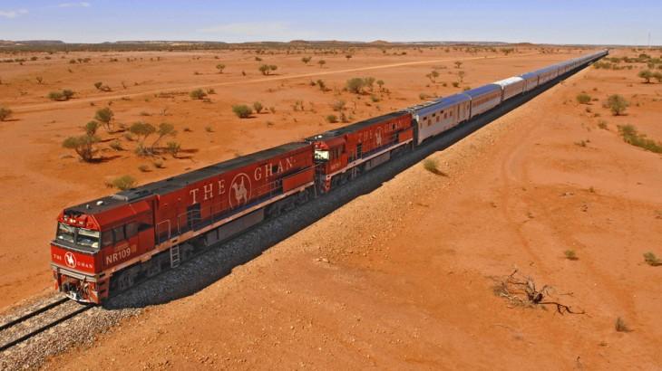 El tren Ghan en su ruta