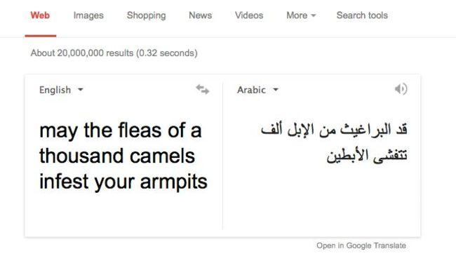 Captura de pantalla especificando como traducir de un lenguaje a otro