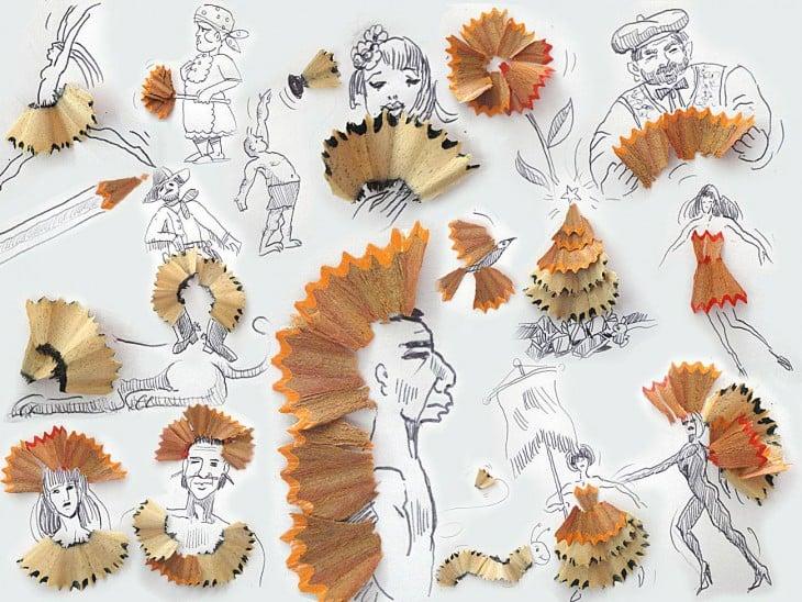 dibujo con lapices de artista victor nunes
