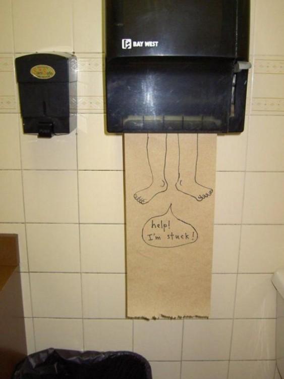 dvertidas bromas en baños