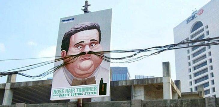 cartel gigante Depiladora de nariz de Panasonic