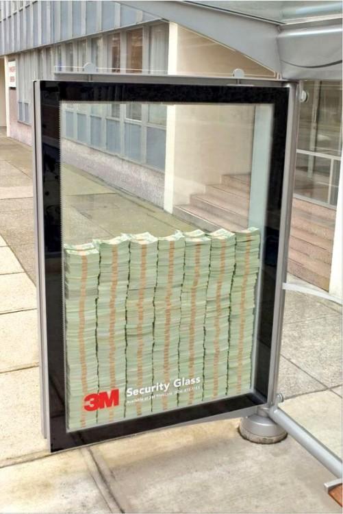 carteles creativos publicidad Cristales de seguridad 3M