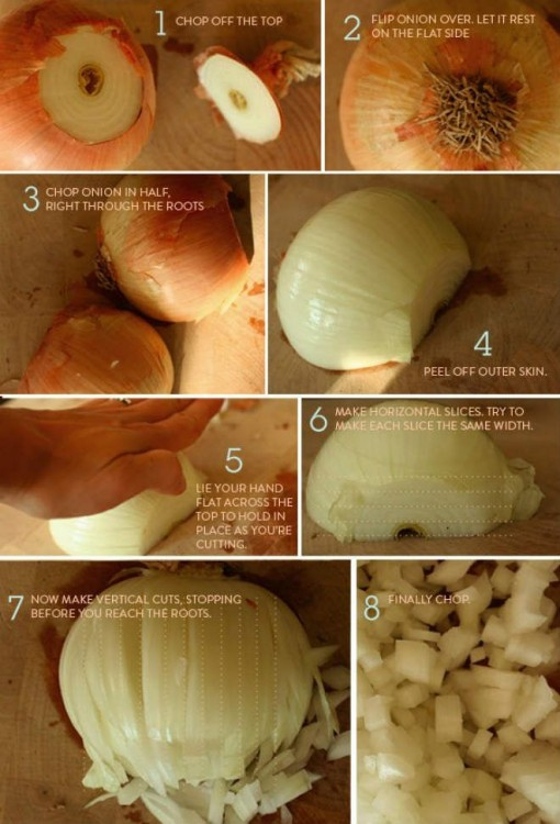 como cortar la cebolla
