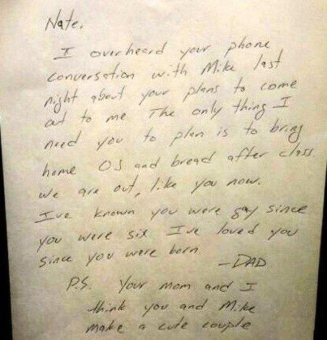 carta escrita de un padre para su hijo
