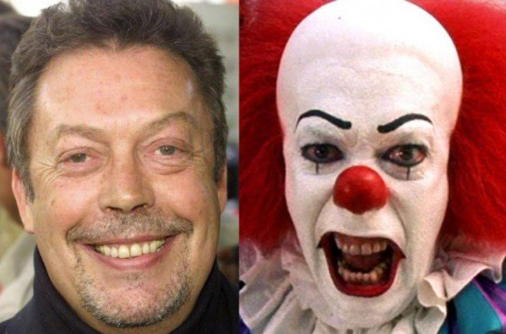 "Tim Curry, como el payaso Pennywise ""It el payaso asesino"""