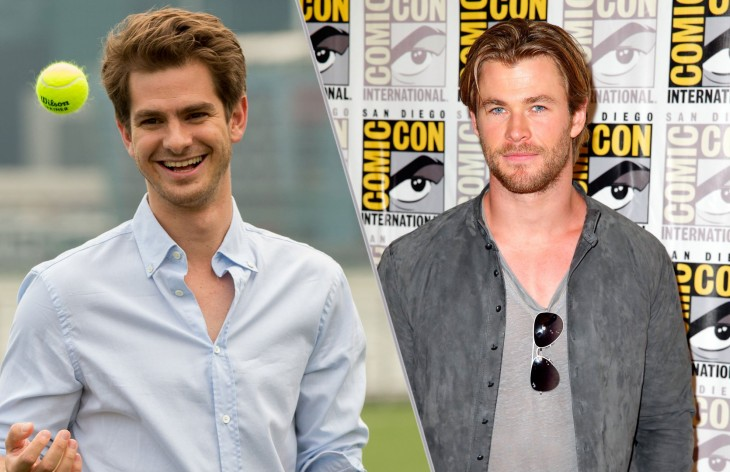 Andrew Garfield y Chris Hemsworth