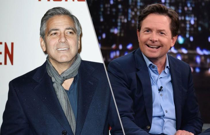 George Clooney y Michael J. Fox