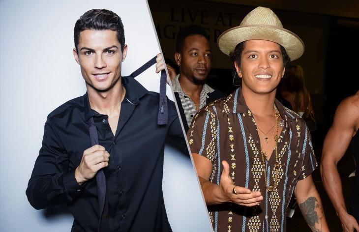 Cristiano Ronaldo y Bruno Mars