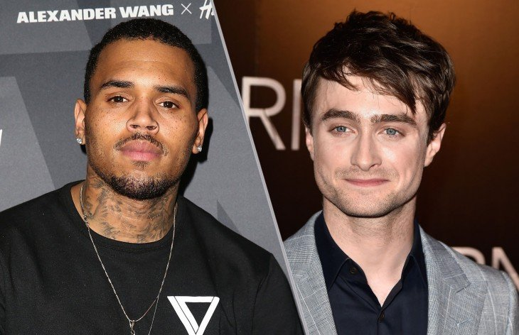 Chris Brown y Daniel Radcliffe