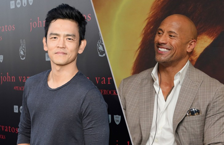 "Dwayne ""The Rock"" Johnson y John Cho"