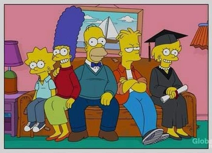 simpson sofá, Lisa graduada