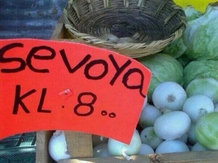 carteles mal escrito cebolla
