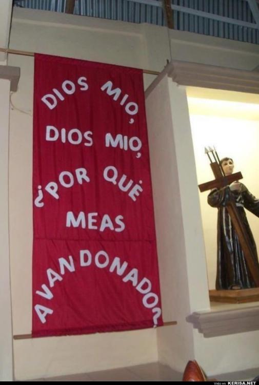 cartel religioso mal escrito