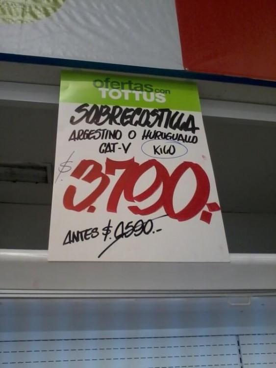 cartel de supermercado mal escrito