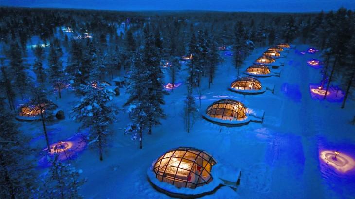 hotel en forma de iglú que se encuentra en Finlandia