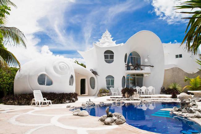 hotel en forma de caracoles gigantes