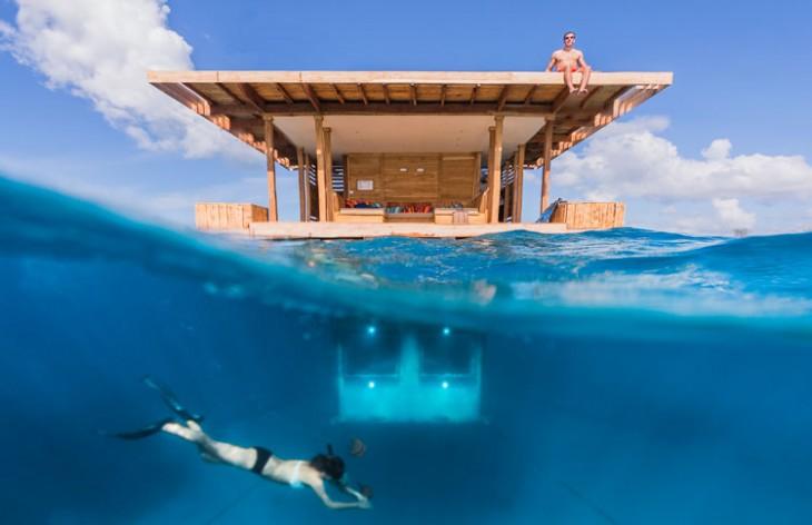 casa en medio del mar