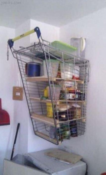 carrito de supermercado como alacena