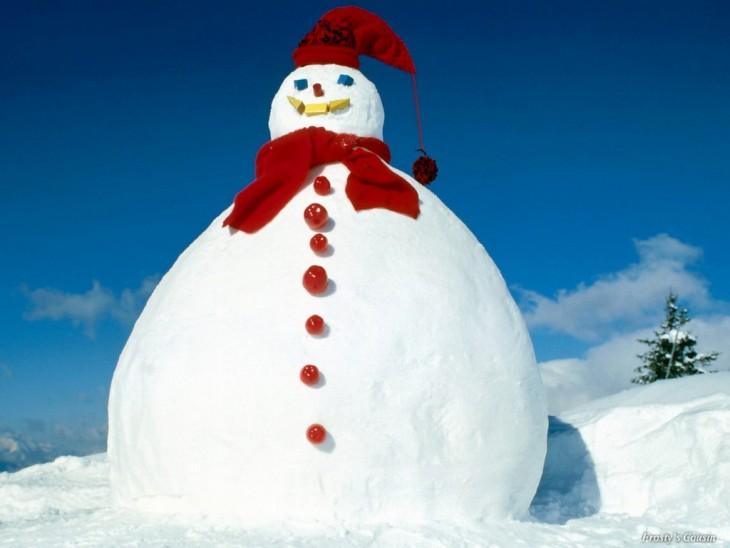 muñeco de nieve enorme
