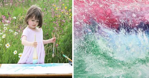 niña de 5 años pinta obras maestras