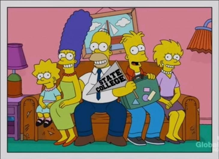 simpson sofá Bart se va a la Universidad