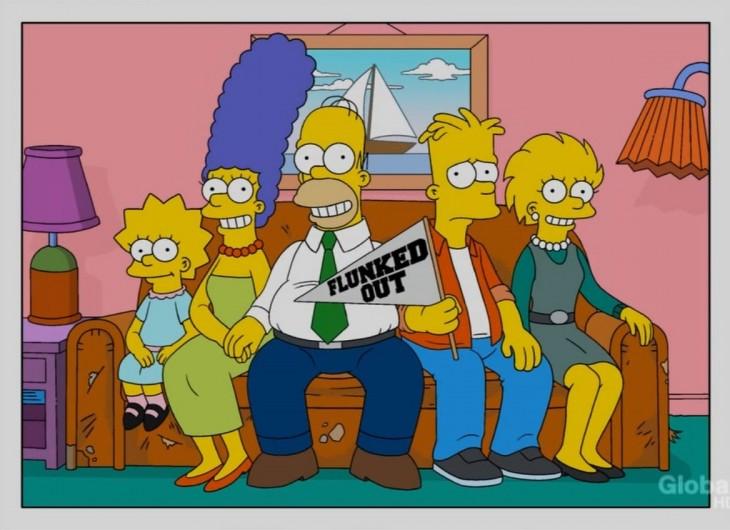 simpson sofa Bart expulsado del colegio
