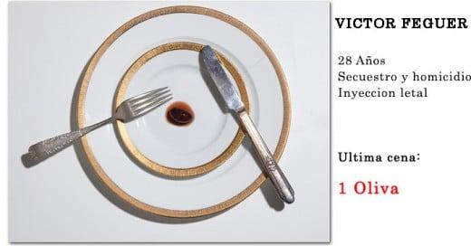 ultima cena criminales condenados a muerte