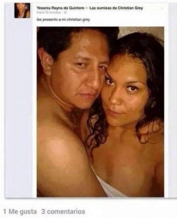 mujer publica en FB diciendo que su pareja es como christian grey