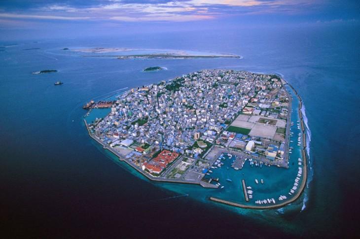 La islas Maldivas se están inundando