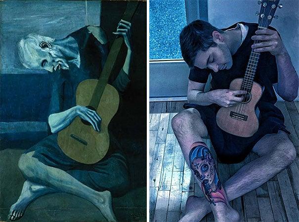 el viejo guitarrista de pablo picasso