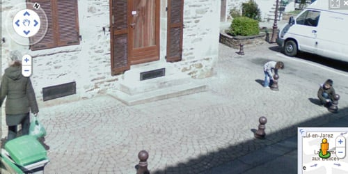 niños traviesos montan trampa paratumbar a mujer en francia