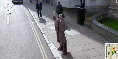 hombredisfrazado de sherlock holmes para street view