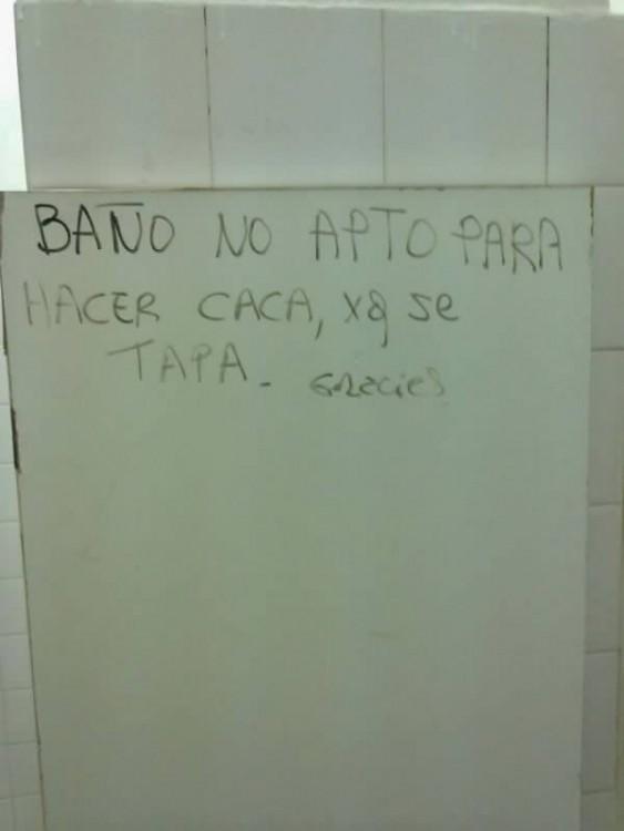 sobre aviso no hay engaño, no funciona el baño