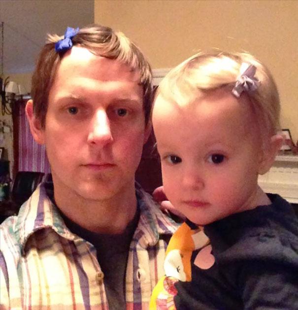 papa peinado como su hija