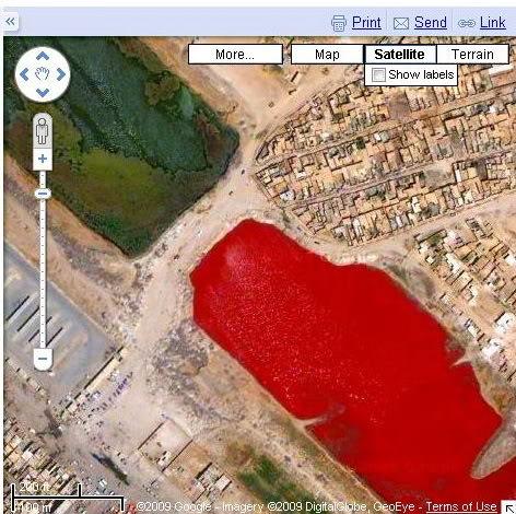 lago rojo en iraq 2007