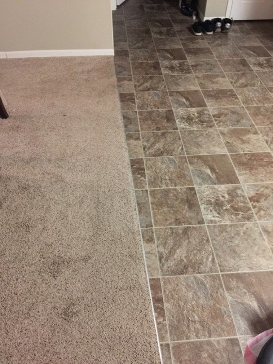 alfombra mal cuadrada