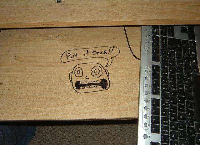 teclado mal acomodado