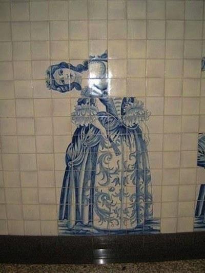 mosaico mal puesto