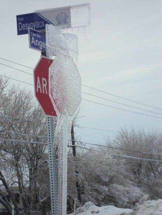 cartel congelado