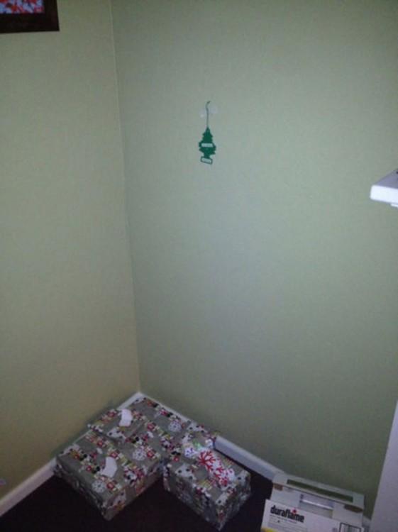 arbolito de navidad hecho con un aromatizante