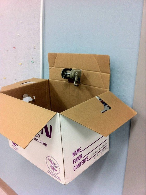 caja en forma de buzon para el departamento