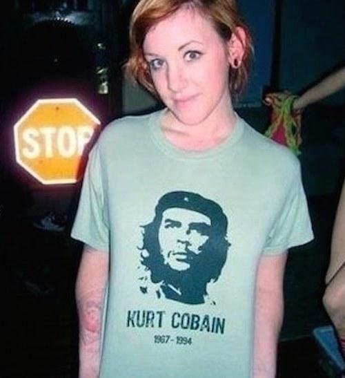 para ella es lo mismo che guevara que  kurt cobain