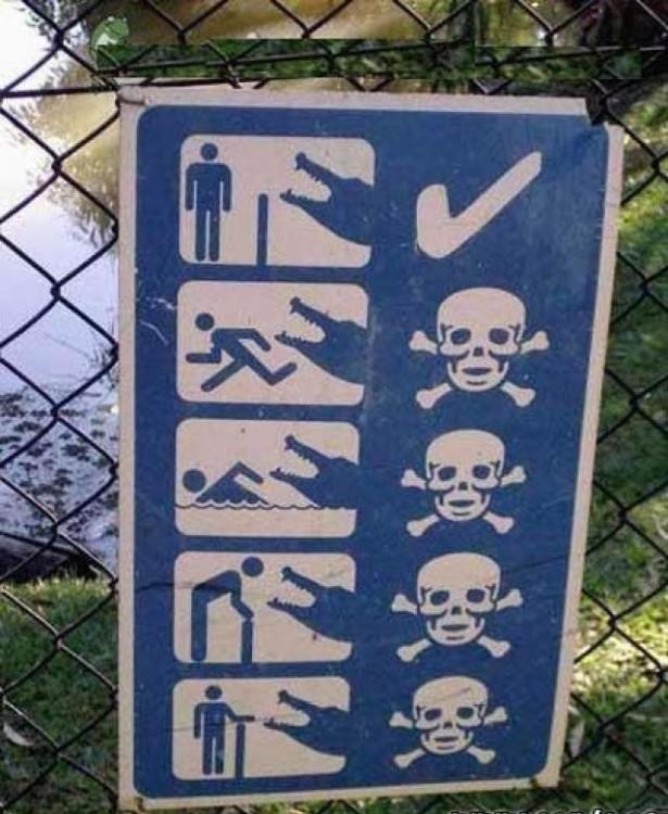 especificación del porque no se debe entrar en esa zona