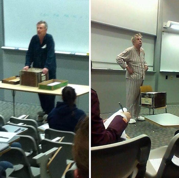 maestro hace huelga por examenes hechos a las 7 de la mañana